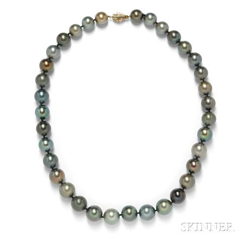 tahitian pearl necklace sale number 2826b lot number