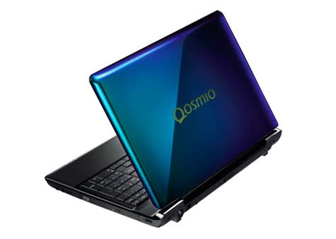 color laptop toshiba s new qosmio is the laptop with a color