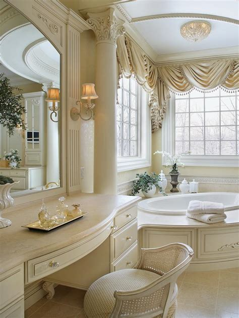 beautiful master bathroom with ornate column hgtv