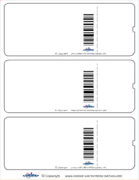 5 printable ticket template procedure template sle