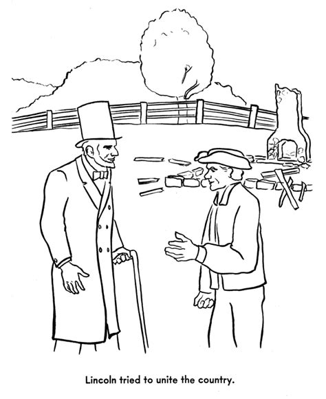 civil war people pages coloring pages