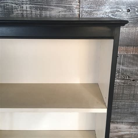 black two shelf bookcase painted black two shelf bookcase