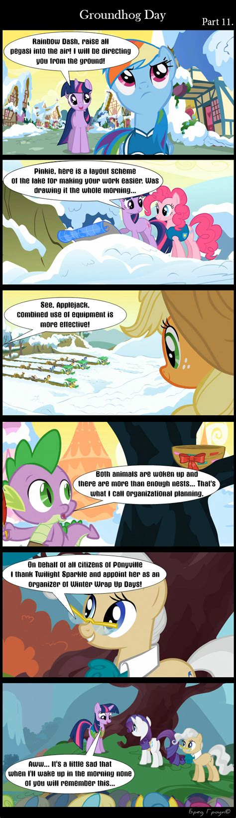 groundhog day fanfiction 1355774 applejack artist bredgroup comic comic