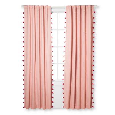 tassel curtains tassel lightblocking curtain panel pillowfort target