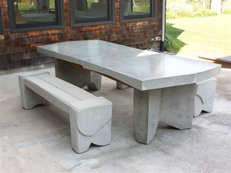 concrete patio furniture nico yektai dining table 5 concrete dining table