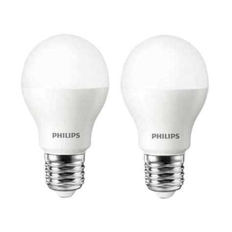 Lu Led Philips Tidak Menyala jual lu led philips putih bohlam 6w 6watt 6 w 6 watt 2 pcs white harga kualitas