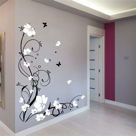 stickers wall large butterfly vine flower wall stickers wall decals 15 10 picclick
