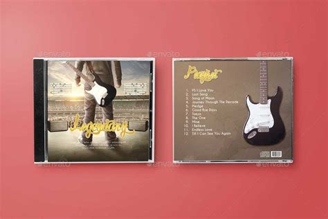 disk cd cover mock   bornx graphicriver