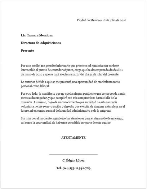 carta de recomendacion para visa ejemplo ejemplo carta de renuncia mil formatos