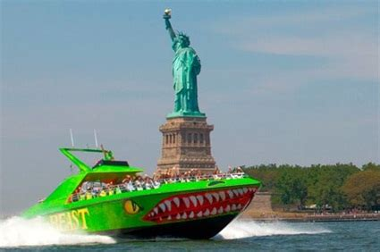 speed boat around statue of liberty new york city tours new york beast speedboat ride usa