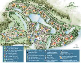 Disney World Map Of Resorts by Saratoga Springs Resort Spa Map Wdwinfo Com
