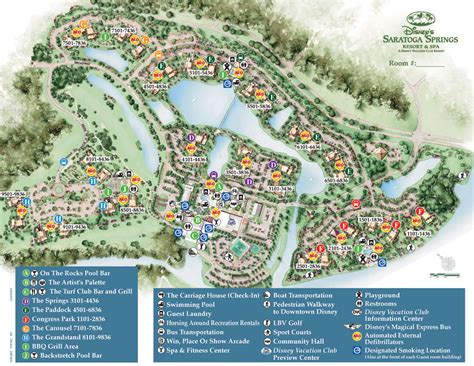 resort map saratoga springs resort spa map wdwinfo
