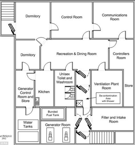 bunker floor plans floor plan of the underground bunker photo daily mail