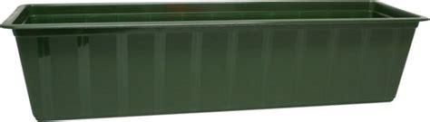 terras 70 cm breed bol bloembak kunststof polypropyleen 100 cm groen