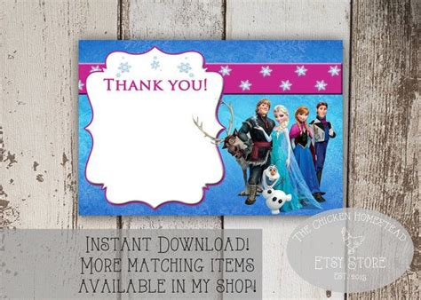 printable frozen thank you cards frozen free printable do you want to build a snowman snack
