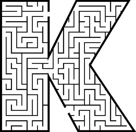 free printable alphabet maze free letter k worksheet coloring pages