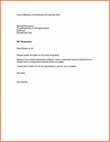 how to write resignation letter 11 sle resignation letter one week notice notice letter