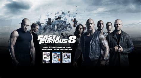 fast and furious 8 extras fast furious 8 in dvd e blu ray e 4k da domani