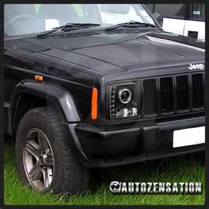 Jeep Halo Headlights 97 01 Jeep Black Halo Smd Led Drl