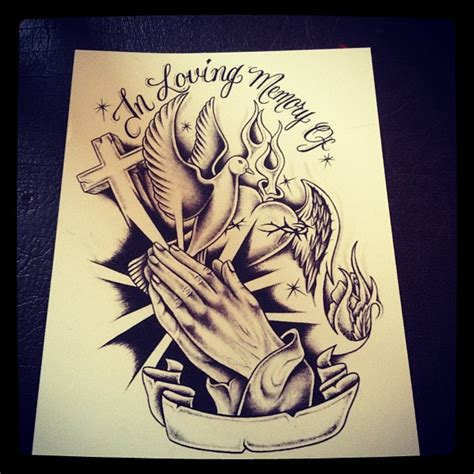 in loving memory tattoo next half sleeve but instead of in loving memory