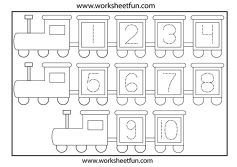 Tracing Numbers 1 10 Worksheets Kindergarten by Tracing Numbers 1 10 Coloring Pages