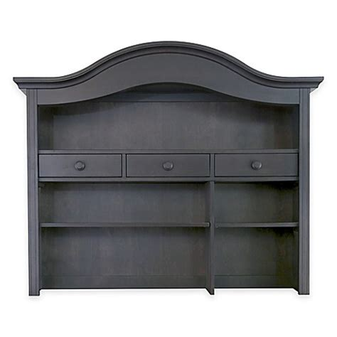 bed bath and beyond davenport buy baby appleseed 174 davenport hutch and bookcase in slate from bed bath beyond