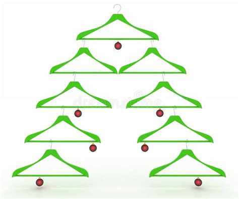 christmasbtrees out of hangers tree made of clothes hangers decorated with balls stock illustration image 35434549