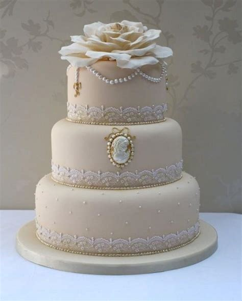 Detailed Wedding Cakes by Lace Wedding Detailed Cakes 2049252 Weddbook