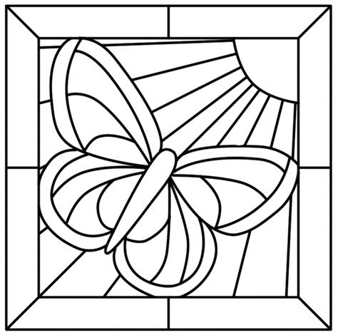 Mosaic Butterfly Coloring Pages | 94 butterfly mosaic coloring page print a coloring