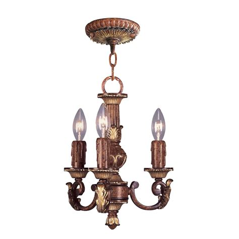 Villa Verona Verona Bronze With Aged Gold Leaf Accents Small Chandelier L