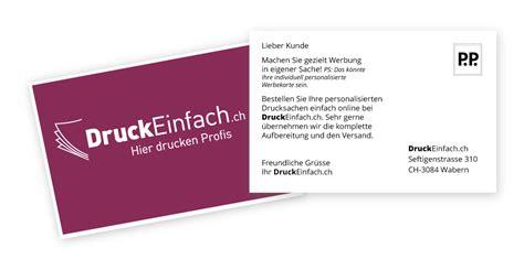 Postkarten Drucken Personalisiert by Personalisierung Individueller Mailings Druckeinfach Ch