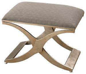 Footstools And Ottomans Uttermost Kiah Modern Small Bench 23207 Contemporary Footstools And Ottomans By Benjamin