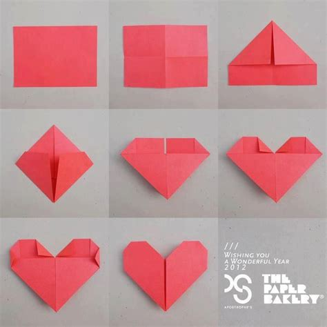 Fold Paper Hearts - how to fold the paper into michael jackson board