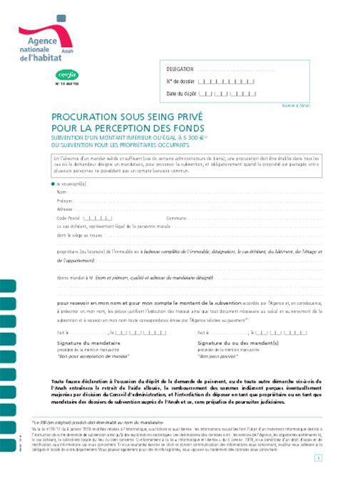 Subvention De L Anah 4379 by Formulaire Procuration Banque