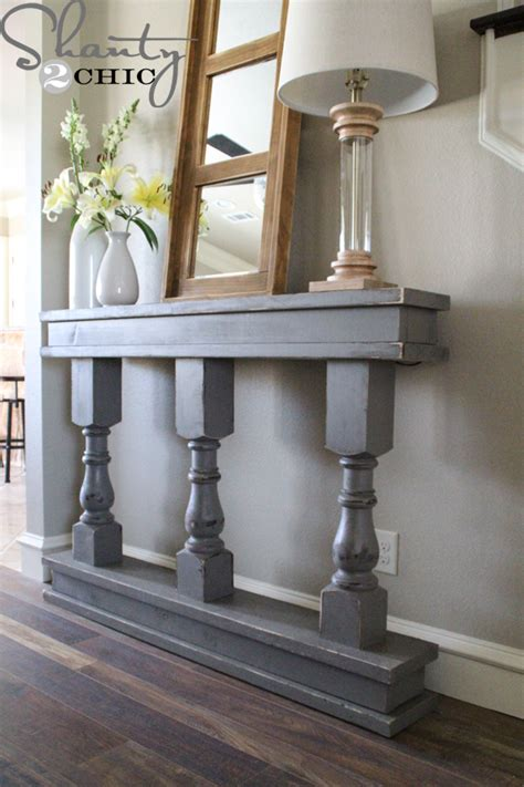 Narrow Console Table For Hallway Make Larger Version With Our Own Spin On It For Porch Newport Coast Villa Pinterest