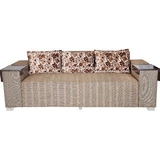 cushion sofa set 311 karigar 3 1 1 heavy fabric sofa set with wooden arm rest