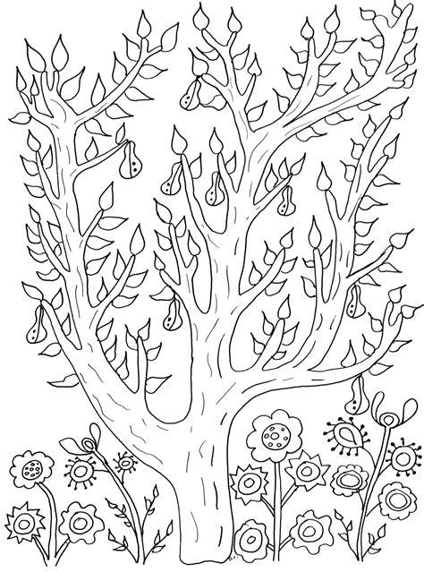 cute tree  leaves  pears olivier flowers adult