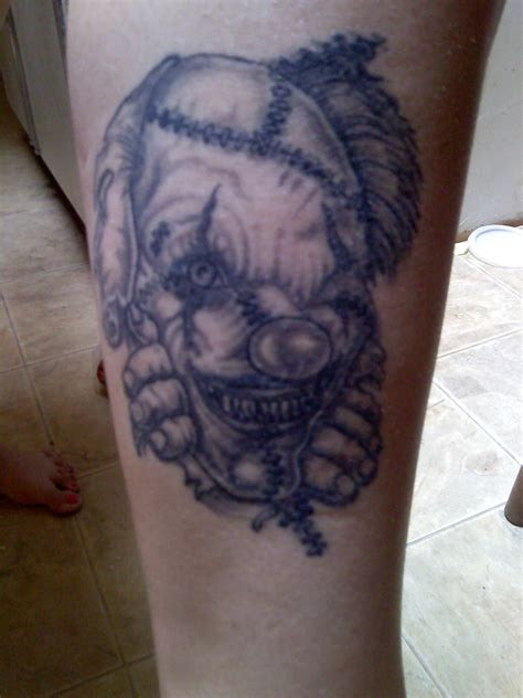 freaky tattoos clown picture