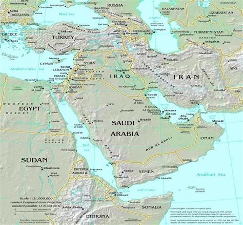 middle east map of mountains worldregionsproject geography of the middle east