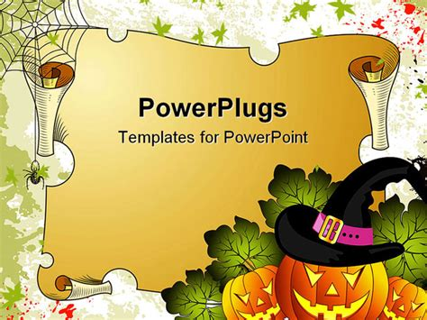powerpoint templates free download halloween halloween background with pumpkin and parchment vector