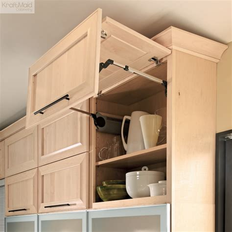 Bifold Kitchen Cabinet Doors Kraftmaid Wall Lateral Bi Fold Cabinet Contemporary Kitchen Cabinetry