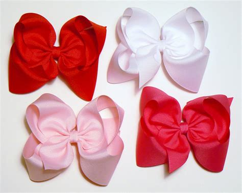 Big Bow With large hair bows set 5 inch hair bows childrens big