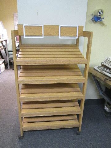 wooden country style  tier bakery shelf