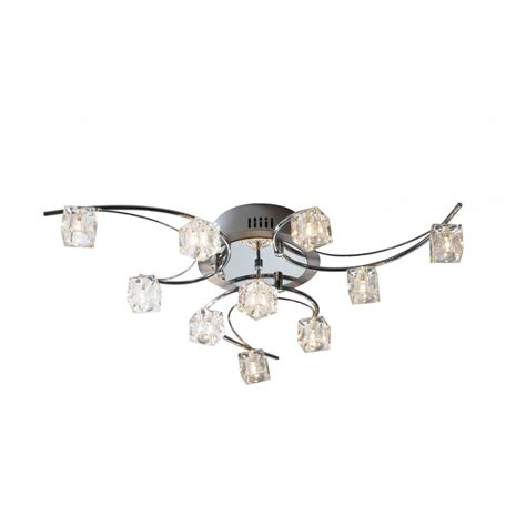 Utopia Large Modern Low Ceiling Light With Ice Cube Glass Low Ceiling Lighting