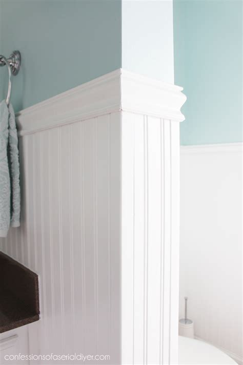 Wainscoting Corners by How To Install Wainscoting Confessions Of A Serial Do It