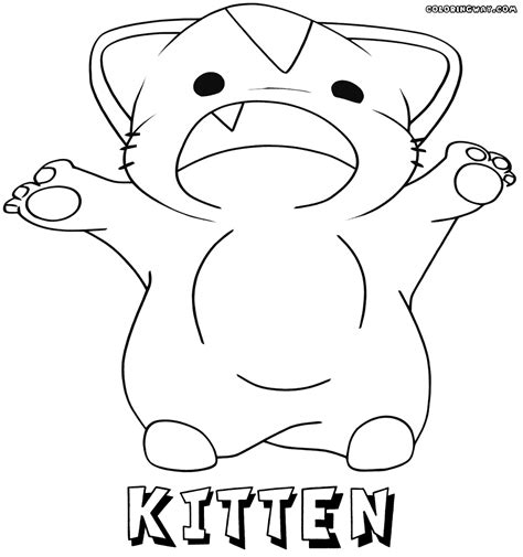 anime kitty coloring page anime kitten coloring pages coloring pages to download