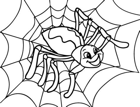 Happy Spider Coloring Page | happy spider coloring page cute spider pinterest