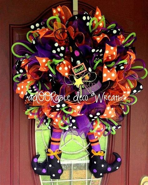 halloween wreath pin by brandi mccoy on awsome decorating ideas pinterest