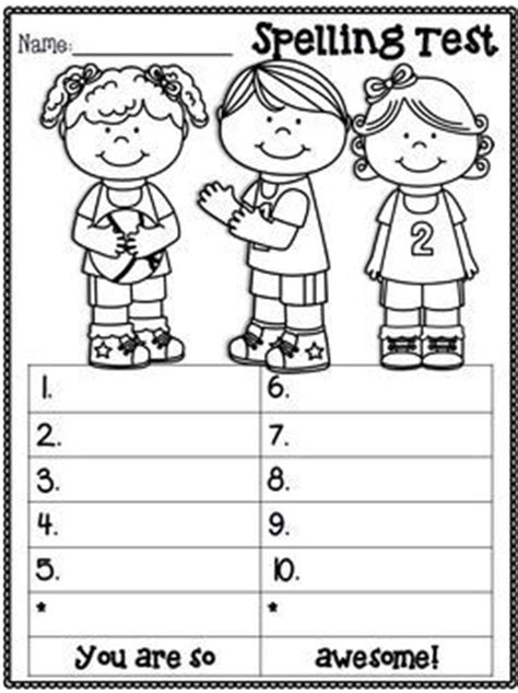 choice spelling test template spelling test freebie march edition o