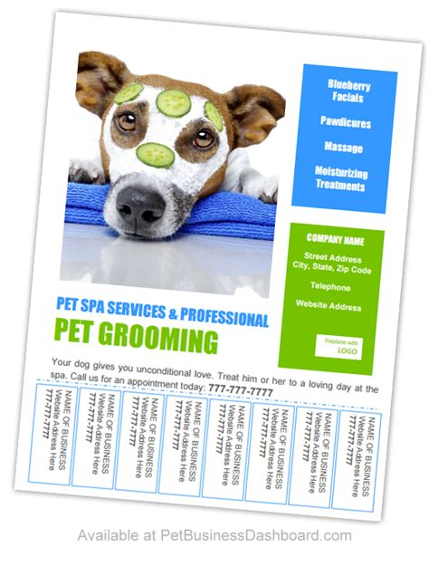 grooming flyers template grooming business flyers and posters